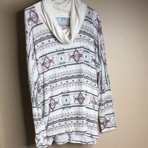 Cowl neck tunic/ shirt